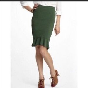 HD IN PARIS | MOSS FREEN FOUNCE HEM PENCIL SKIRT 4